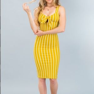 Dresses & Skirts - Yellow and white striped dress !